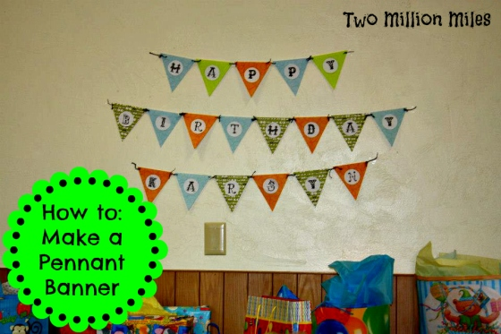 how to make a pennant banner