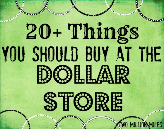 20+ things you should buy at the dollar store