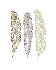 Free feather printables from Oh, So Lovely. More color choices available.