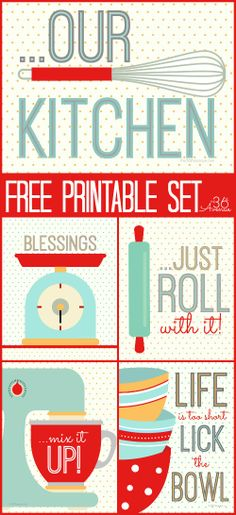 Adorable FREE Kitchen printables from The 36th Avenue.
