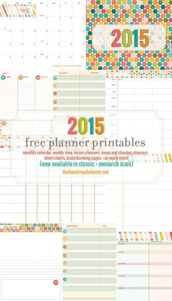 Stay completely organized in 2015 with these FREE printables from The Handmade Home.