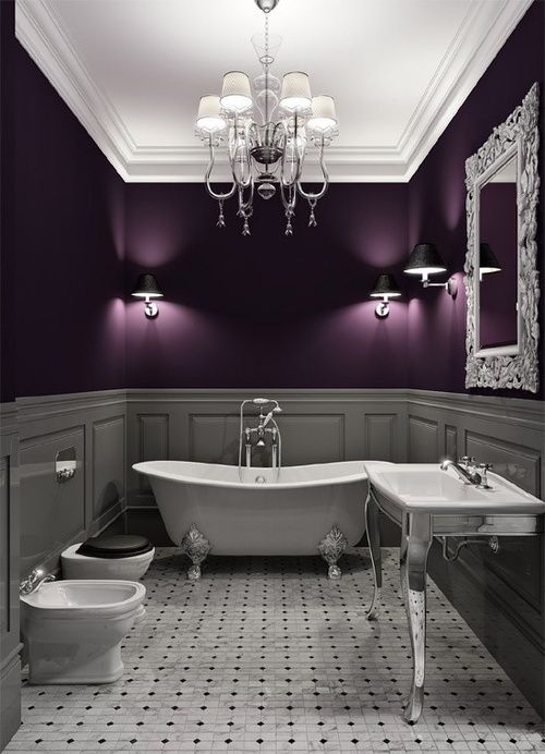 grey and purple bathroom inspiration two million miles