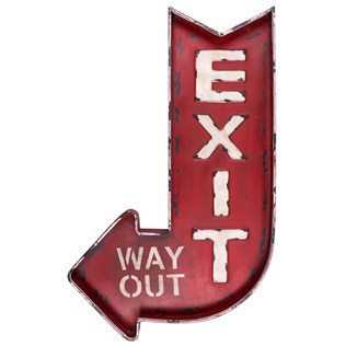Exit Way Out Sign. Perfect for a kitchen or a vintage room. | Two Million Miles