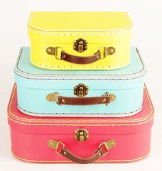 Red, Yellow and Blue Vintage suitcases! | Two Million Miles