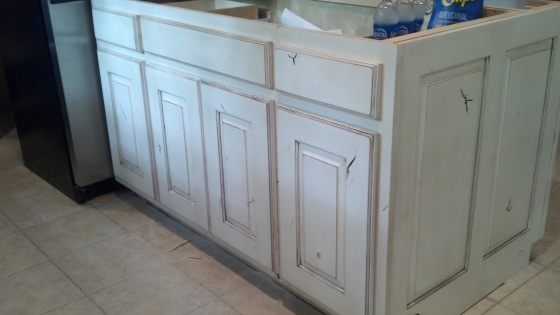 White Knotty Wood Cabinets | Two Million Miles