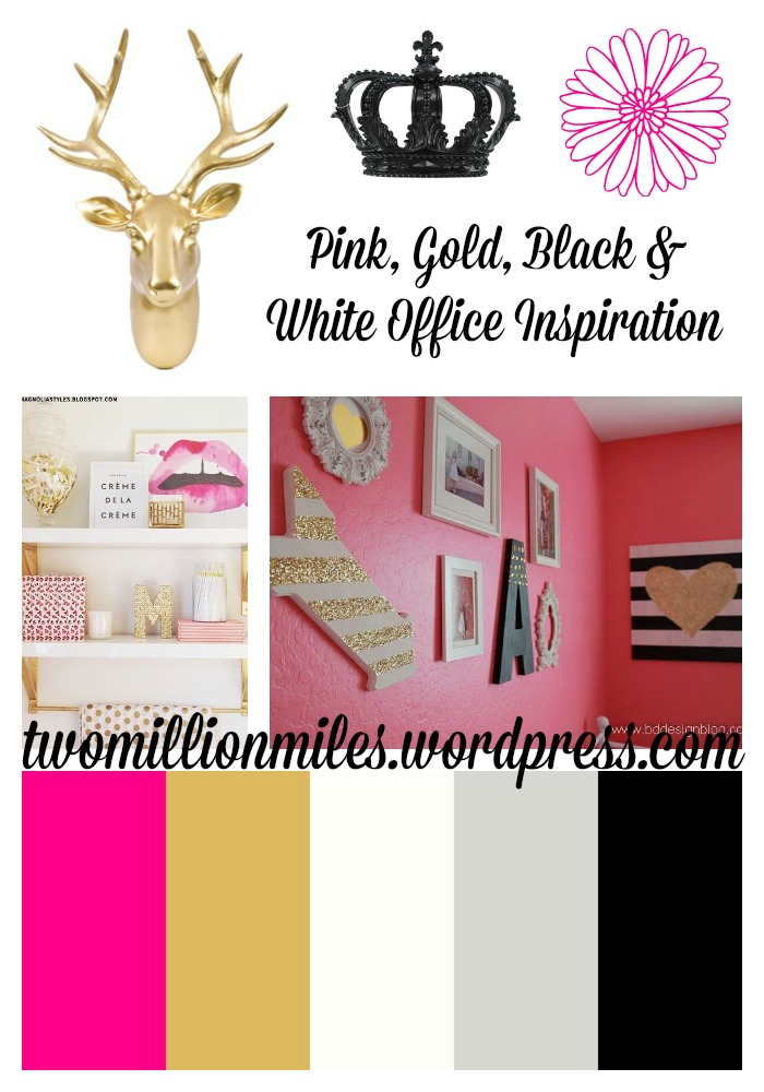 Pink, Gold, Black Office
